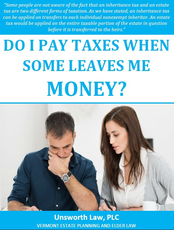 Do I Pay Taxes When Someone Leaves Me Money