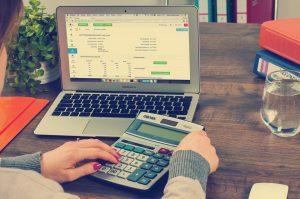Woman devising a retirement plan